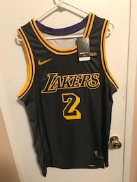 Lonzo Ball #2 black Los Angeles lakers jersey! Burbank, 91505