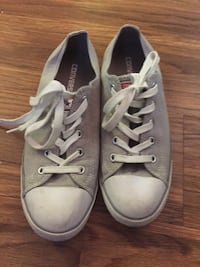 pair of gray Converse All Star low-top sneakers