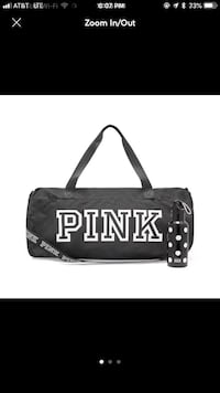 Black and white victoria's secret tote bag