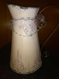 Decorative metal pitcher