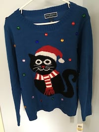 Christmas sweater new size medium. Bought at Macy paid 40.00 US dollars   Laval, H7K 3T4