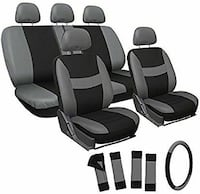 New in box. 17pc Mesh Seat Cover Set. Gray/Black  Overland Park, 66211