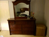 brown wooden dresser with mirror Silver Spring, 20904
