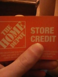 $128 store credit gift card Home Depot Washington, D.C.