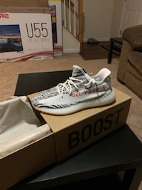 Pair of zebra adidas yeezy boost 350 v2 with box Winchester, 22602