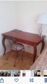 Brown wooden table with Cabriole legs, as new! L47 W27 H30