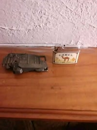 Vintage truck belt buckle and camel lighter pengui Galloway, 43119