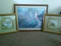 three assorted-design painting with frames Fresno, 93720