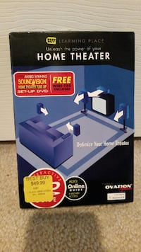 Home theater organizer. Shows you how to optimize your Home Theater system. Has never been opened.. Retail value is $50.00  Manassas