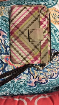 brown and pink wristlet Fairmont, 26554