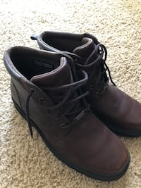 pair of black leather work boots Schaumburg, 60195