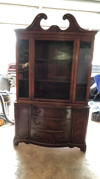 Brown wooden display cabinet with drawer Laredo, 78041