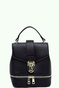 black  leather crossbody bag Montreal, H3G