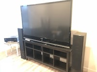 """67""""Samsung led/dlp 1080p tv with pioneer receiver and pure acoustics 300watt tower speakers. Asking 1050 obo for all. Stand available with it for a reasonable offer  Saskatoon, S7K 0S8"""