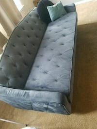Blue futon/sofa and ottoman  Alexandria