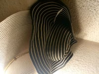 black and white stripe summer hat Tacoma, 98499