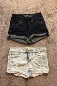 Two pairs of women's jean shorts Thames Centre, N0L 1G3