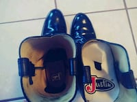 Justin men all leather boots size 11  El Paso, 79925