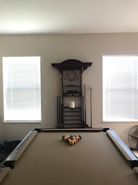 """American Heritage 8"""" Pool Table &a Billiard accessories w/ HighTop Table & Chairs"""