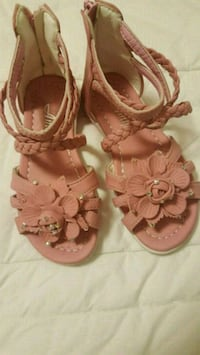 pair of pink leather sandals Edmonton, T6V 0L6