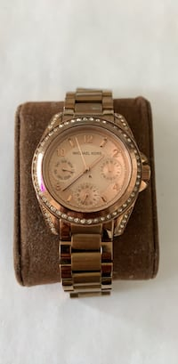 round silver Michael Kors chronograph watch with silver link bracelet Alexandria, 22311
