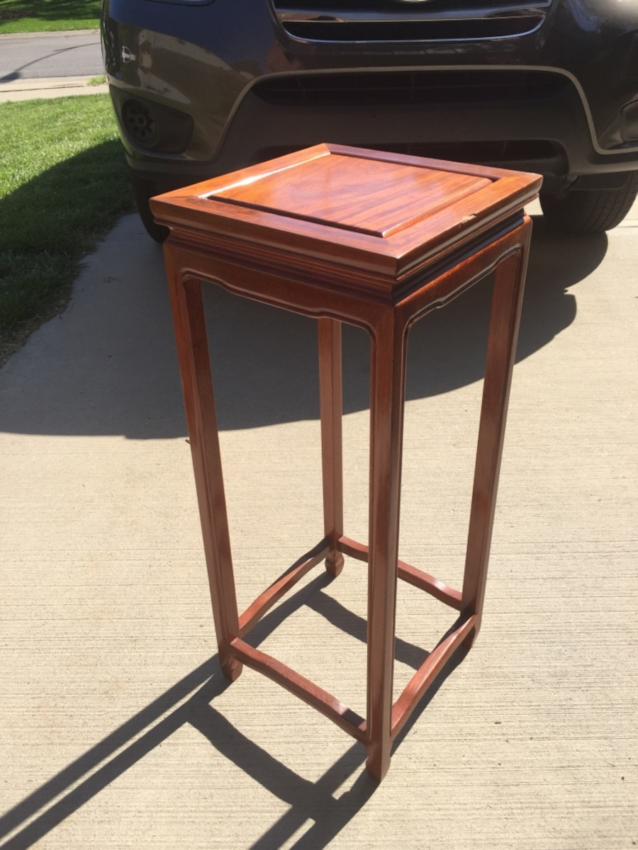 Used oak 12x12 table usually used behind couches for for 12x12 table