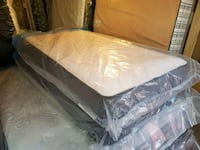 white and gray mattress in pack Edmonton, T5A 4H3