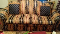 Blue and gold sofa