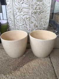 two white ceramic candle holders London, W9