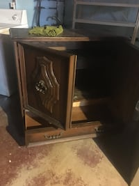 brown wooden TV hutch with flat screen television null, L2G 6X6