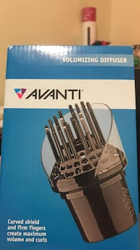 avanti volumizing diffuser curved shield and firm fingers create maximum and curls box Toronto, M6L 2M2