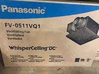 Panasonic 50:80:110 cfm fan. Brand new in box. Cambridge