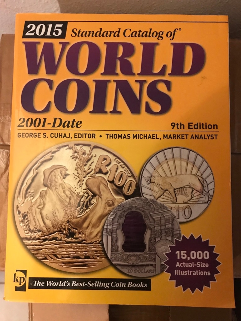2015 standard catalog of world coins 2001date