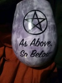 As above so below purple cup with pentacle