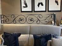 Wrought iron railing. Custom made. Very heavy duty. Used on half wall. Mississauga, L5A 3W5