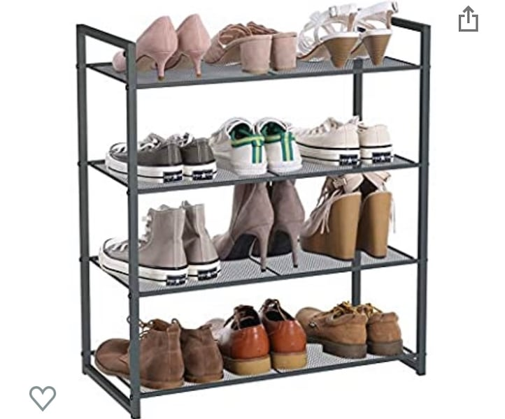 Songmics 4 tier shoe rack  61778c0e-256c-4d52-992c-7dfbc4153858