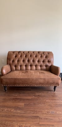 Coffee brown and Tapestry Loveseat Washington, 20064