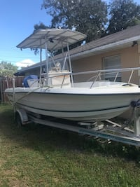 2000 Sea Pro 18' boat w/aluminum trailer just purchased 2 batteries.  Lakeland, 33815
