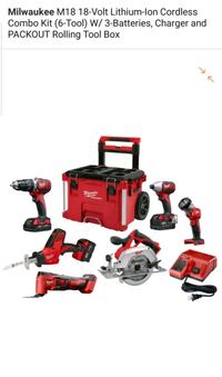 red and black power tool set 12 mi