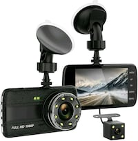 "NEW 4"" Large Screen Front&Rear Dash Cam"