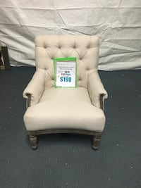 Alford Rolled Arm Tufted Chair w/ Turned Legs Hopkins, 55343