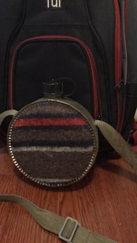 Black and red leather bag, free with backpack purchase  Mississauga, L4X