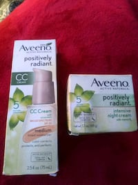 Aveeno positively radiant beauty products.  Denver, 80239