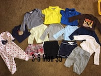 baby's assorted clothing