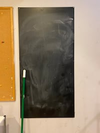 Chalkboard with eraser and chalk!