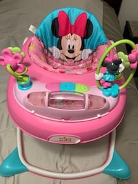 baby's pink and white Minnie Mouse walker Ashburn