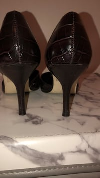 pair of black leather platform stilettos Bowie, 20720