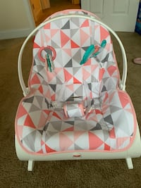 pink and white Fisher-Price bouncer seat Falls Church, 22043