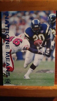 Natrone Means Chargers Running Back Rancho Cordova, 95670