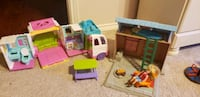 Fisher price cabin toy with rv
